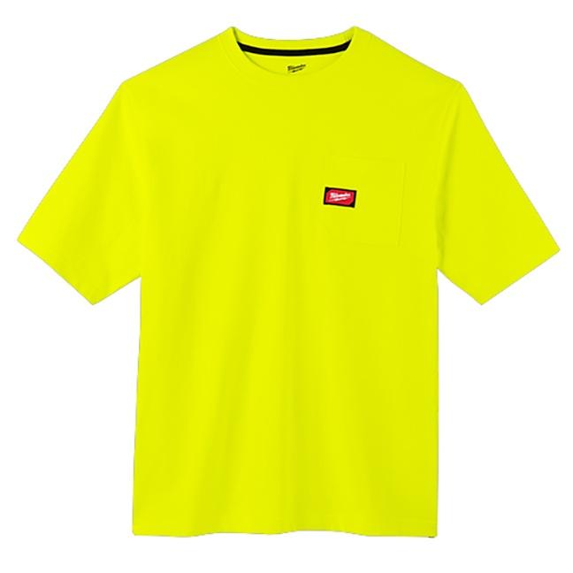 Milwaukee 601HV Heavy Duty Pocket T-Shirt Hi Viz