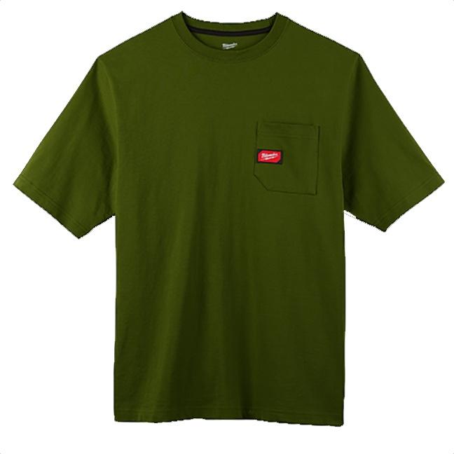 Milwaukee 601OG Heavy Duty Pocket T-Shirt Olive Green
