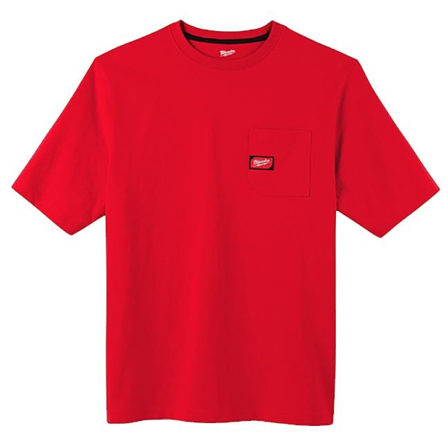 Milwaukee 601R Heavy Duty Pocket T-Shirt Red