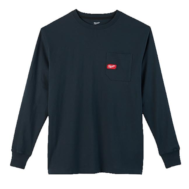 Milwaukee 602BL Heavy Duty Pocket Long Sleeve T-Shirt Blue