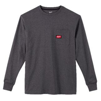 Milwaukee 602G Heavy Duty Pocket Long Sleeve T-Shirt Gray