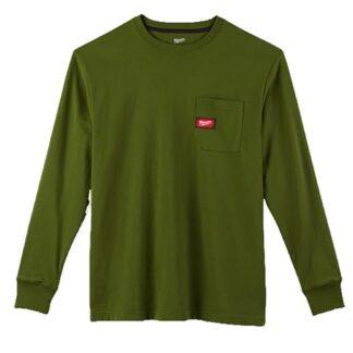 Milwaukee 602OG Heavy Duty Pocket Long Sleeve T-Shirt Olive Green