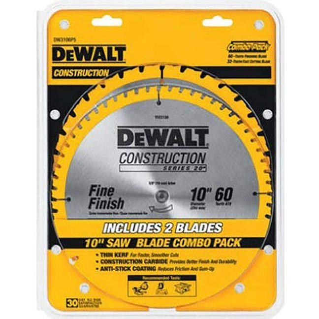 DEWALT DW3106P5 General Purpose Saw 2 Blade Combo Pack