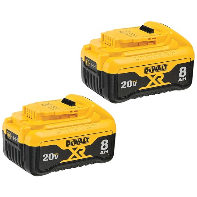 DeWalt DCB208-2 20V MAX 8.0Ah Battery 2-Pack