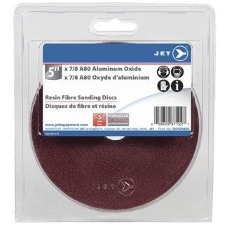 "Jet 502426A05 5x7/8"" A80 Aluminum Oxide Resin Fibre Sanding Disc"