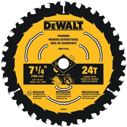 "DeWalt DWA171424B10 7-1/4"" 24T Circular Saw Blade 10-Pack"