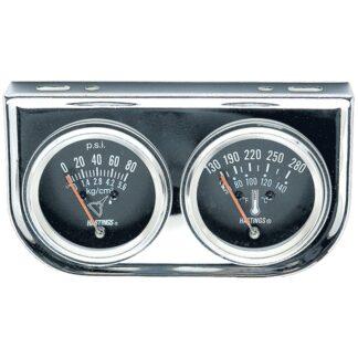 Jet HTA1216 Chrome Series Dual Oil Pressure and Water Temperature Gauge Kit