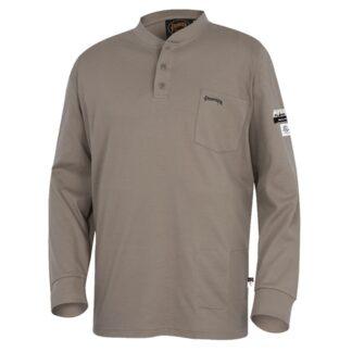 Pioneer 331 100% Cotton FR Interlock 7 oz Henley Shirt