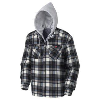 Pioneer 415BG Quilted Hooded Polar Fleece Shirt