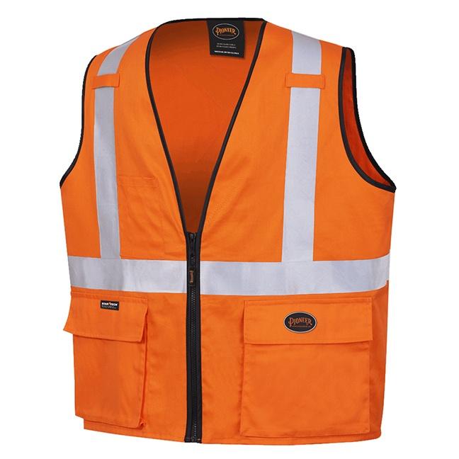 Pioneer 4411 100% Cotton Safety Vest Orange