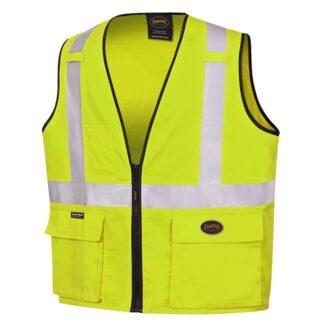 Pioneer 4412 100% Cotton Safety Vest Hi-Viz Yellow/Green