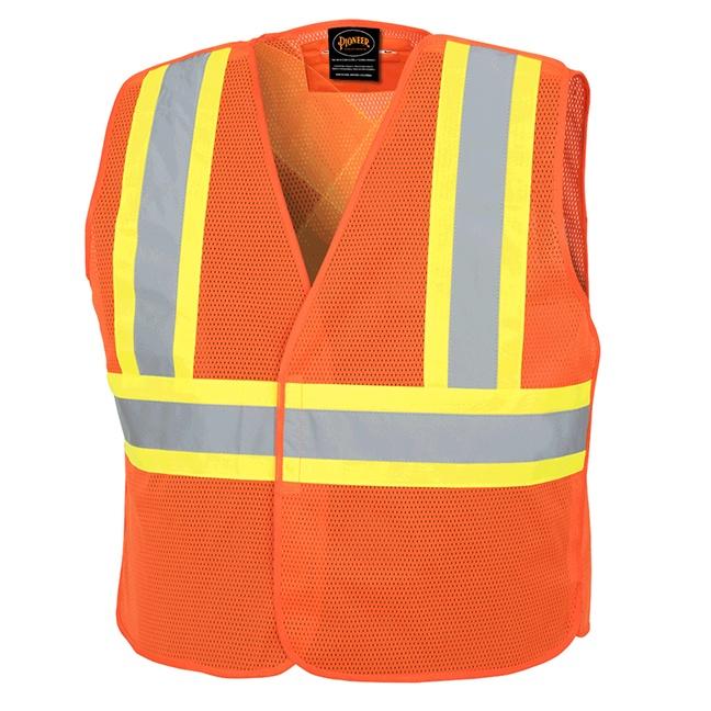 Pioneer 597P Hi-Viz Tear-Away Mesh Vest