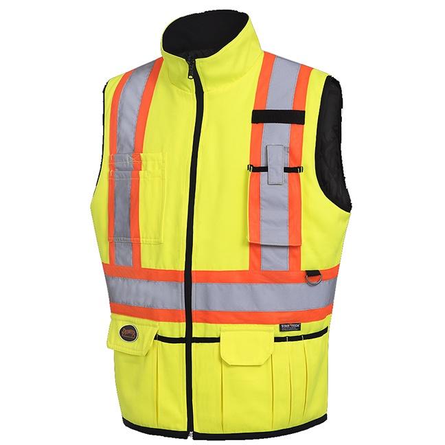 Pioneer 6689 Hi-Viz Reversible Insulated Safety Vest