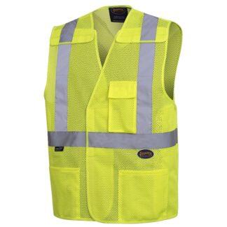 """Pioneer 6923 Hi-Viz Safety Mesh Vest with 2"""" Tape"""