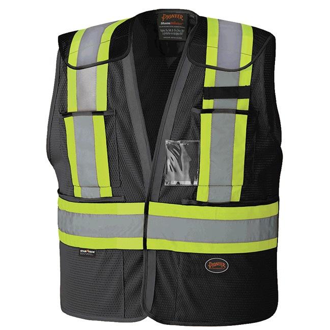 Pioneer 6933BK Hi-Viz Drop Shoulder Safety Tear-Away Vest