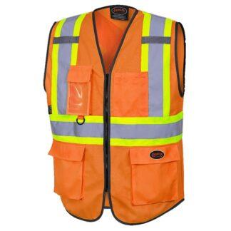 Pioneer 6958 Hi-Viz Zipper Front Safety Vest