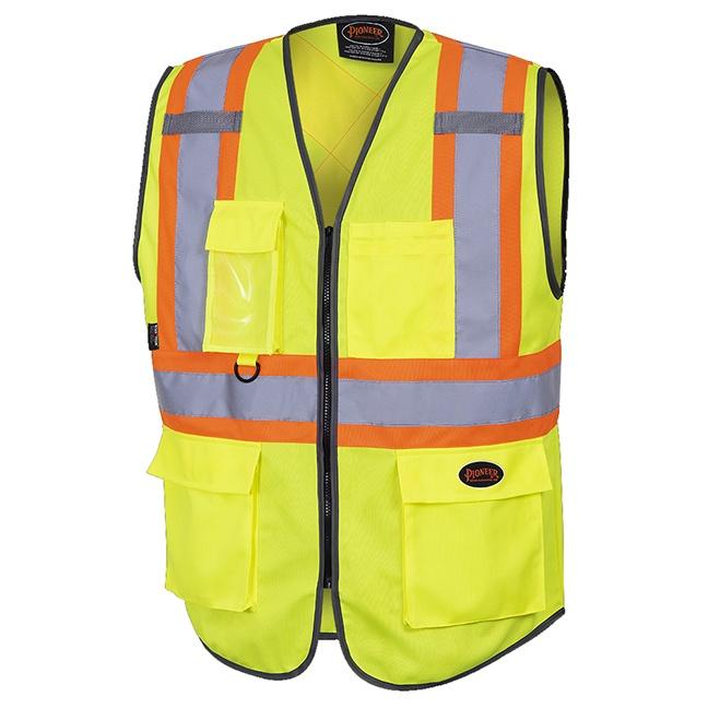 Pioneer 6959 Hi-Viz Zipper Front Safety Vest