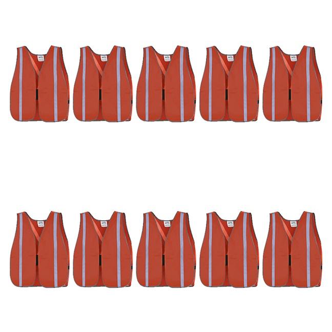 Pioneer Hi-Viz All-Purpose Mesh Vests 10-Pack