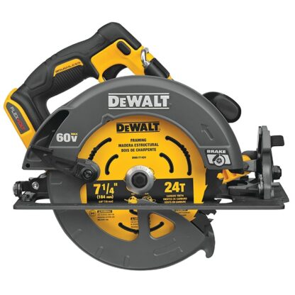 "DeWalt DCS578B FLEXVOLT 60V MAX Brushless 7-1/4"" Circular Saw with Brake"
