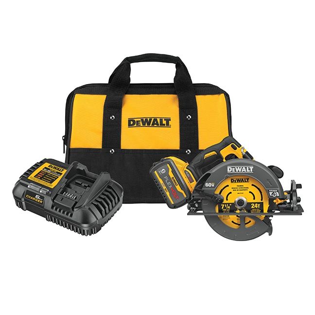 "DeWalt DCS578X1 FLEXVOLT 60V MAX Brushless 7-1/4"" Circular Saw with Brake Kit"
