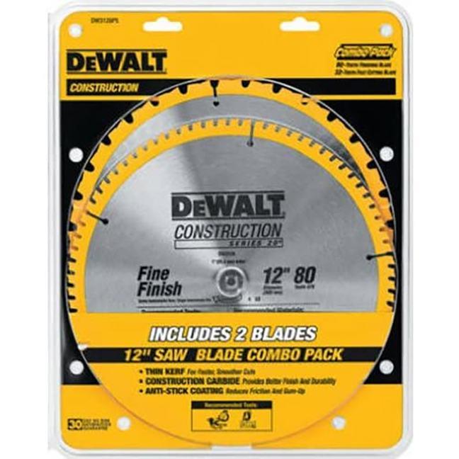 """DeWalt DW3128P5 12"""" Mitre Saw Construction Blades"""