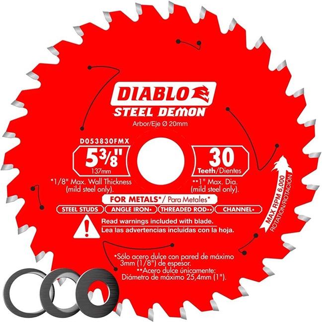 """Freud D053830FMX Diable Metal Blade 5-3/8"""" 30T"""