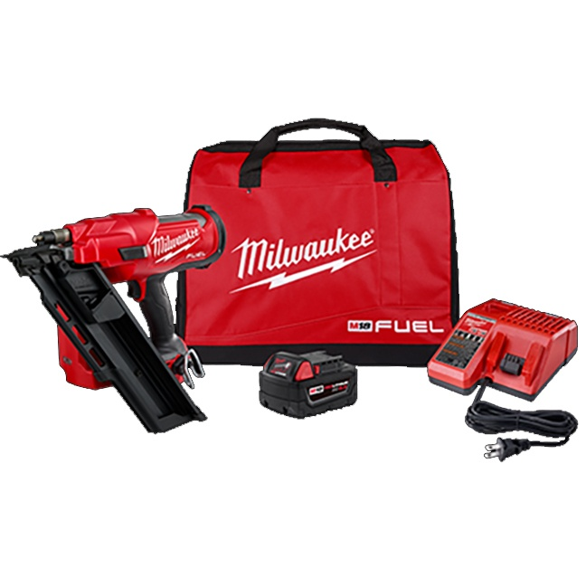 Milwaukee 2745-21 M18 FUEL 30 Degree Framing Nailer Kit