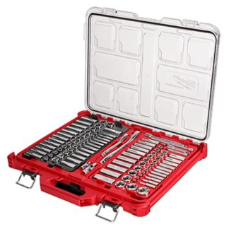 "Milwaukee 48-22-9486 1/4"" & 3/8"" Drive 106pc Ratchet & Socket Set SAE & Metric with PACKOUT"