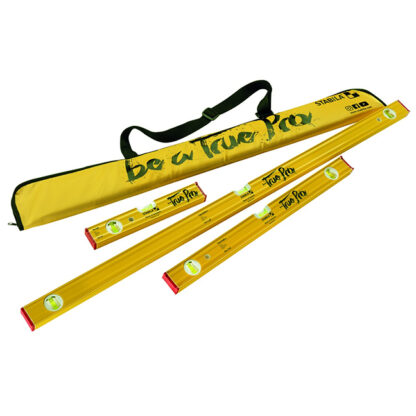"""Stabila 22135 Type 80 As True Pro Set 12""""/24""""/48"""" Levels with Keychain Vial And Level Bag"""