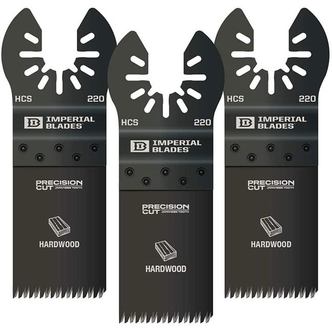 Imperial Blades IBOA220-3 One Fit Japanese Tooth Hardwood Blade 3-Pack