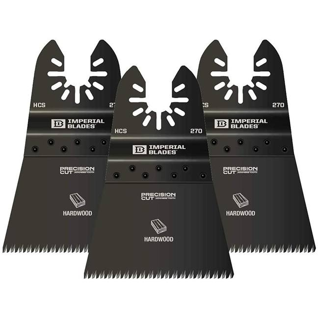 Imperial Blades IBOA270-3 One Fit Japanese Tooth Hardwood Blade 3-Pack