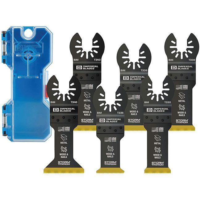 Imperial Blades IBOATV-6 One Fit Storm Titanium Metal/Wood Variety Pack