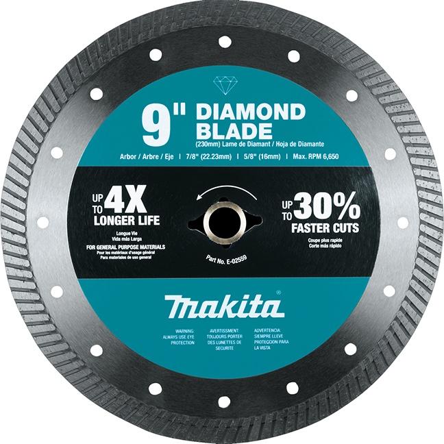 """Makita E-02559 9"""" Diamond Blade Turbo General Purpose"""