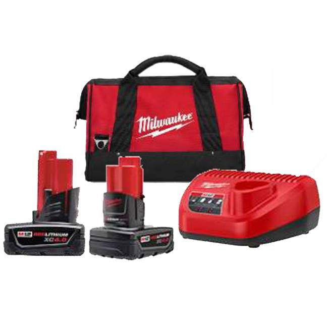 Milwaukee 48-59-2442SPC M12 XC 4.0Ah x2 Starter Kit