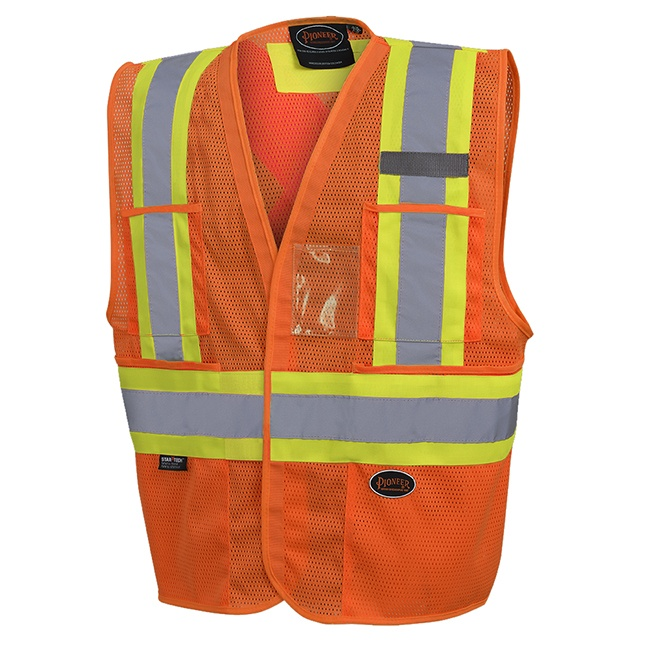Pioneer 6945 V1023750 Hi-Viz Non Tear-Away Mesh Vest - Orange
