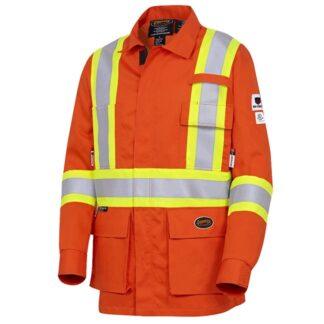 Pioneer 7773 V2540850 FR-Tech® Flame Resistant Safety Jacket - Hi-Viz Orange