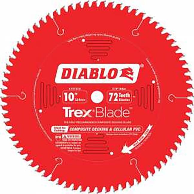 "Freud D1072CDC Diablo 10""x72T TRex Blade"