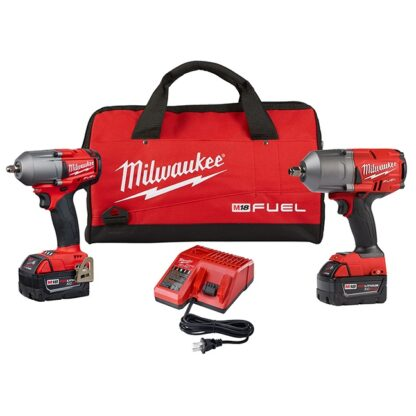 Milwaukee 2993-22 18 High Torque and Mid Torque Impact Wrench Combination Kit