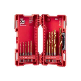 Milwaukee 48-89-4633 SHOCKWAVE RED HELIX Titanium Drill Bit Set 10PC