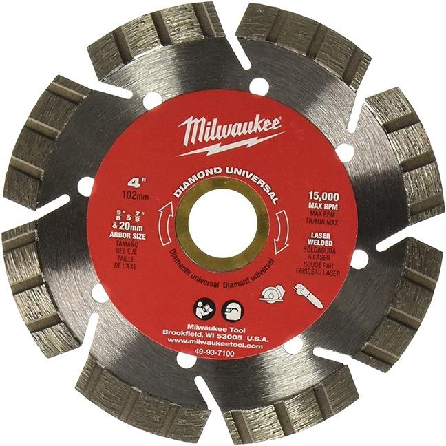 "Milwaukee 49-93-7100 4"" Diamond Universal Segmented-Turbo"