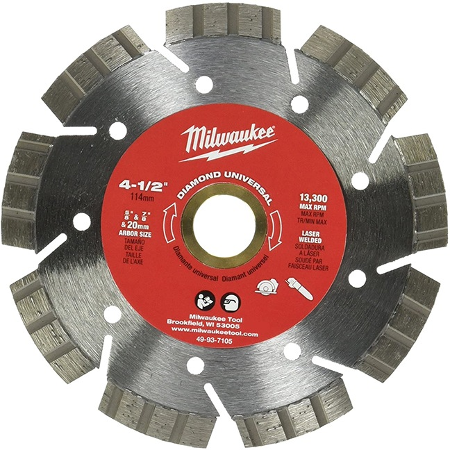 "Milwaukee 49-93-7105 4 1/2"" Diamond Universal Segmented-Turbo"