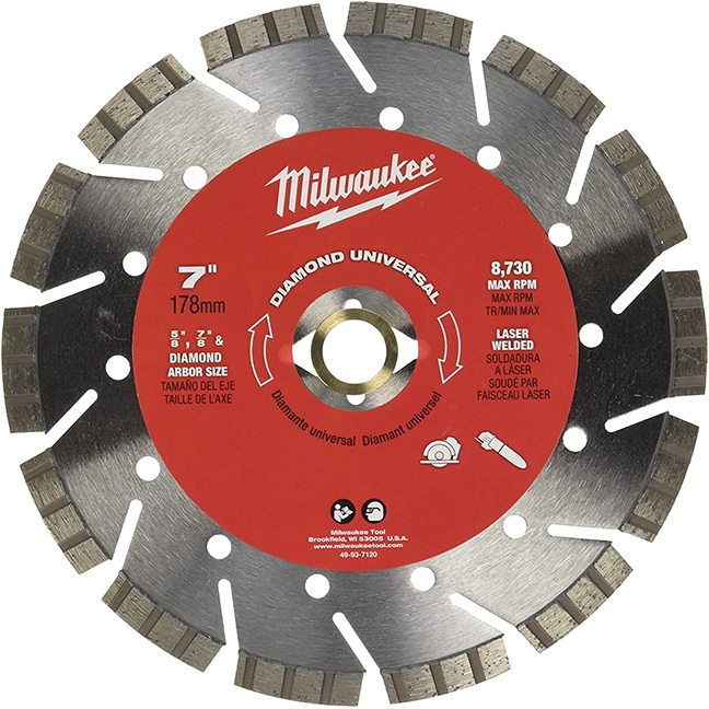 "Milwaukee 49-93-7120 7"" Diamond Universal Segmented-Turbo"