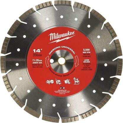 "Milwaukee 49-93-7140 14"" Diamond Universal Segmented-Turbo"