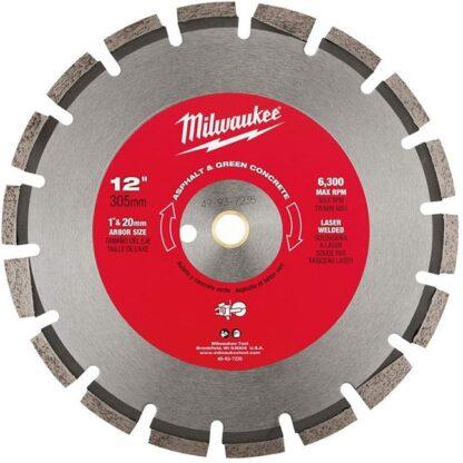 "Milwaukee 49-93-7235 12"" Asphalt & Green Concrete Segmented"