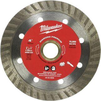 """Milwaukee 49-93-8006 4"""" Diamond Premium Turbo"""