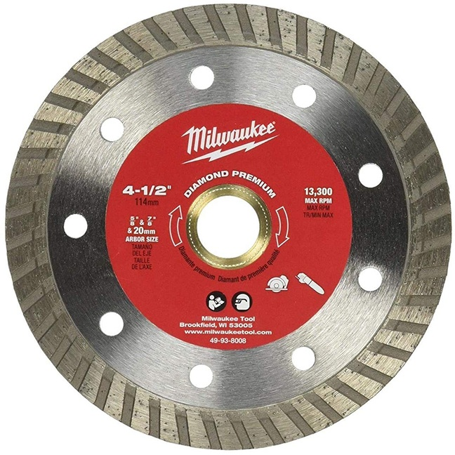 """Milwaukee 49-93-8008 4-1/2"""" Diamond Premium Turbo"""