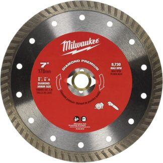 """Milwaukee 49-93-8018 7"""" Diamond Premium Turbo"""