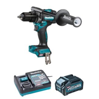 "Makita HP001GM102 XGT 40V 4.0 Ah Max Brushless 1/2"" Hammer Drill / Driver Kit"