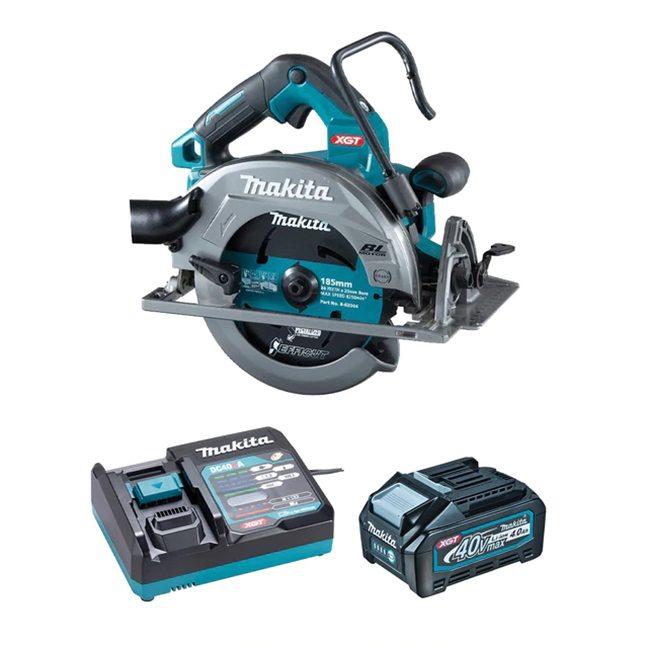 "Makita HS003GM103 XGT 40V 4.0 Ah Max Brushless AWS 7-1/4"" Circular Saw Kit"