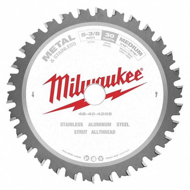 """Milwaukee 48-40-4205 5-3/8"""" 30T Metal & Stainless Circular Saw Blade"""